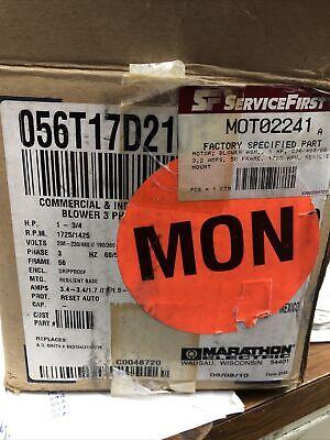 Marathon Electric Motor Jqk 56t17d210h K- 1 Hp -3ph- 208-230460