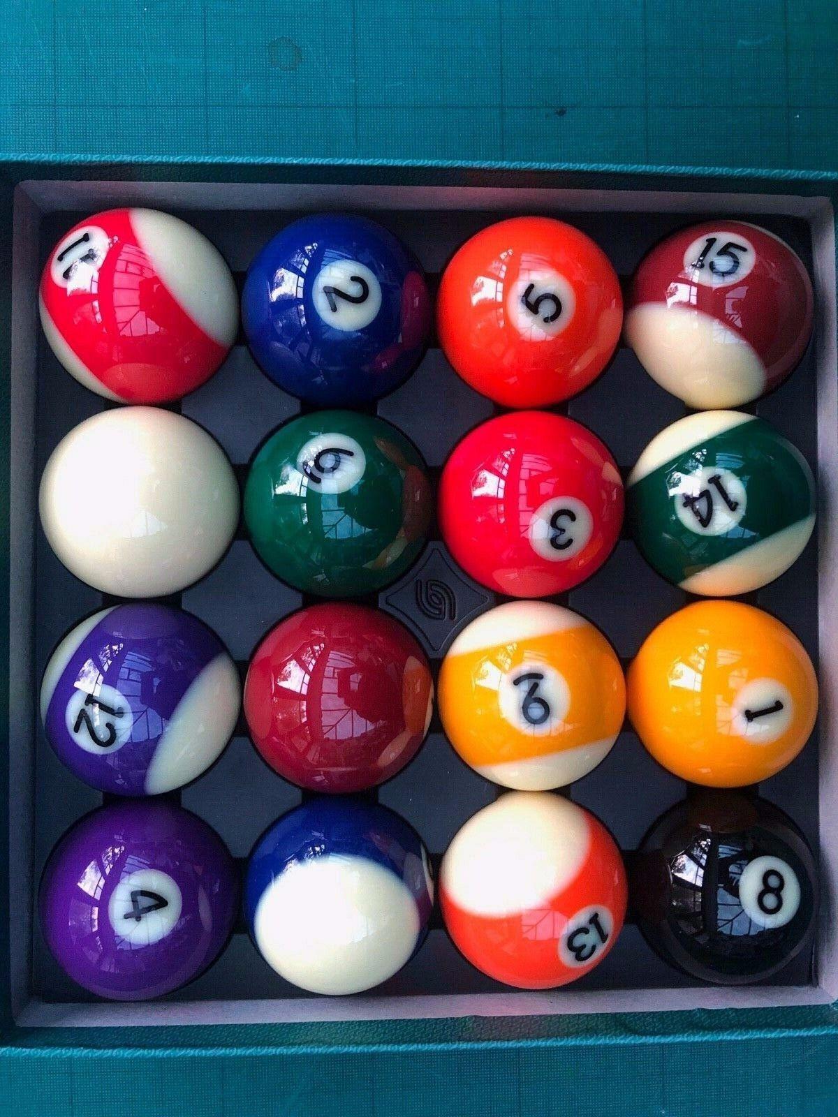 BILLIARD SNOOKER POOL BALLS ARAMITH PREMIUM 2 1/4 balls NEW