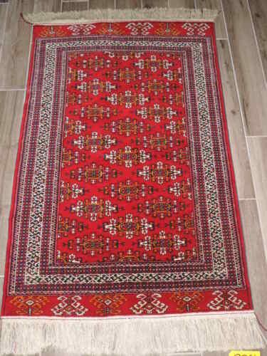 3x5ft. Turkoman Kepse Gul Bokharra Wool Rug