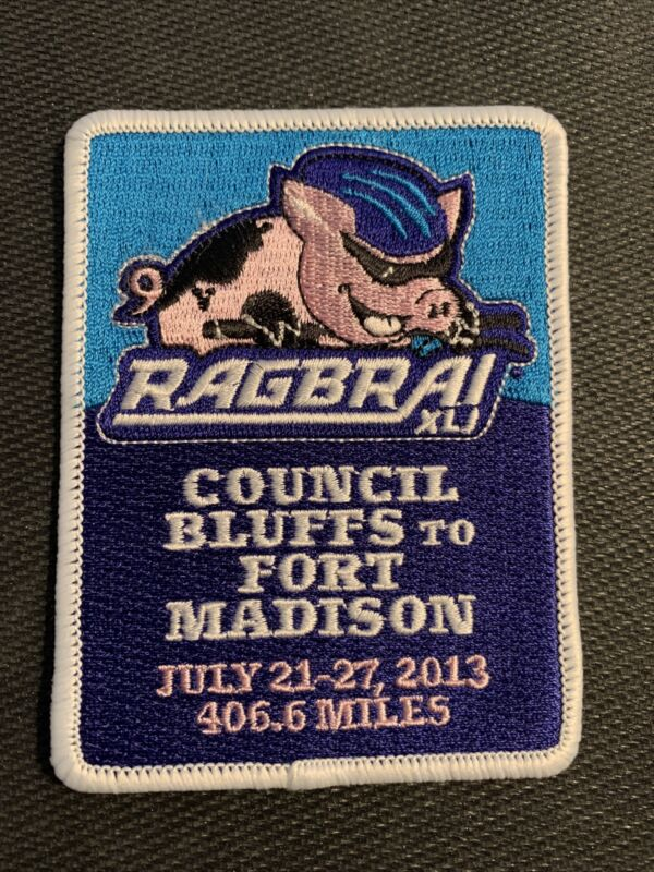 2013 RAGBRAI XLI Sew on Patch Iowa Cycling Biking Bike - Free Shipping