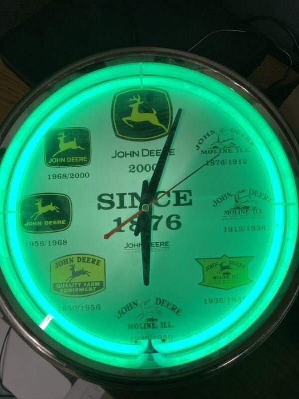 Vintage John Deere Light Up Clock