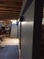 drywall , painting, insulation , construction work