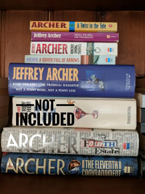 Jeffrey Archer Fiction Novels X 7 Fiction Books Gumtree