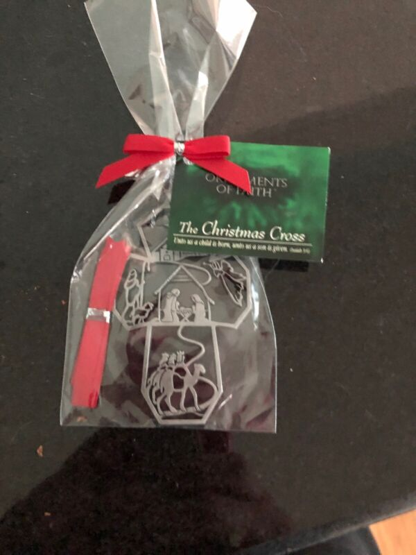 2009 The Christmas Cross Ornaments of Faith Pewter Ornament - NEW Sealed