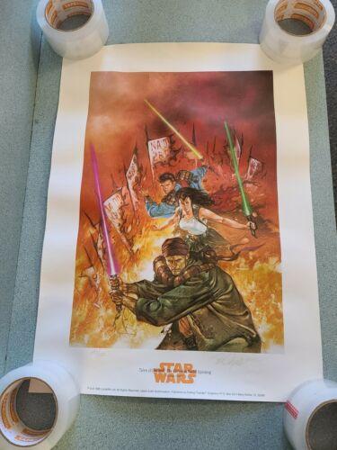 1996 Star Wars JEDI TALES FREEDON NADD Original Lithograph Poster Dorman Signed