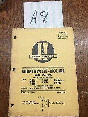 Minneapolis-moline Shop Manual  Mm-19