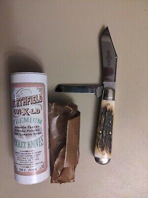 GREAT EASTERN GEC NORTHFIELD SAMBAR STAG OIL FIELD JACK KNIFE RARE 861219 New