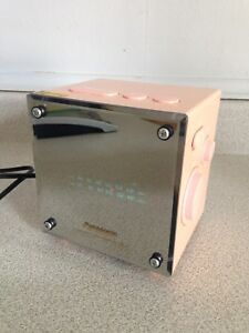 Cool Vintage 1970's Panasonic Mirrored Fluorescent Clock Radio