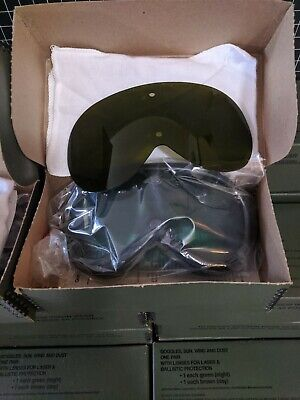 American Optical Military Ballistic Laser Safety Lens Goggles Green Red Uv Ess