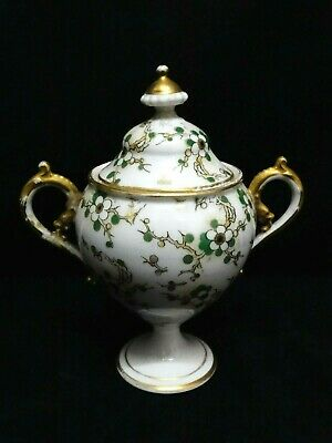 Sugar Bowl Pot Porcelain Richard Ginori Floral Gold Cert