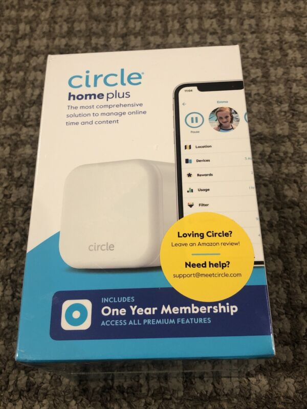 Circle Home Plus, New In Box, Parent Control Device, Includes One Yr Membership
