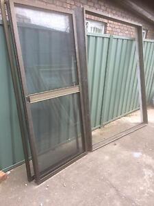 Brown aluminium sliding Casula Liverpool Area Preview