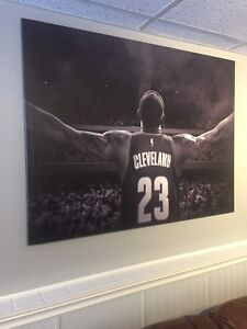 Lebron James Stretched Canvas