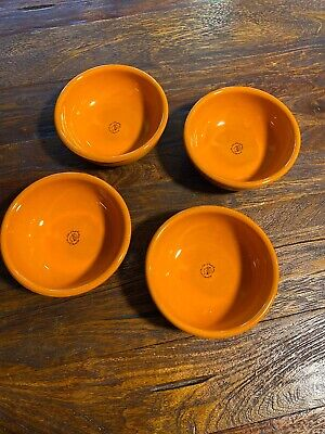 Mamma Ro` Tabletop Dinnerware - Classic Collection Soup Bowl- Orange Set Of 4