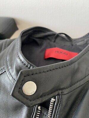 Mens Hugo Boss Leather Jacket Size M