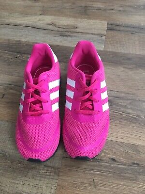 Adidas Brand Shoes, Size 10, Pink & White Striped, Athletic Low Top Girls Shoes