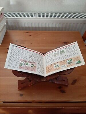 Handmade Carved Wooden Quran Book Stand Brown