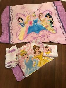 Disney princess comforter and bed sheets - twin