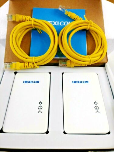 HEXICOM AV1000 Mbps Powerline Adapter Ethernet Kit 4K IPTV Connect Household Kit