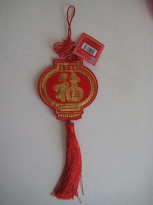 Red with Gold work Lucky Charm NEW