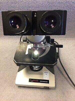 Olympus Bh2 Bh-2 Microscope 4 Objectives Dplan 4x 10x 40x 100 Lamp Warranty