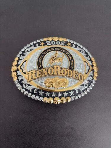 Gist VTG Solid Bronze 2002 Reno Rodeo Belt Buckle, 492/500
