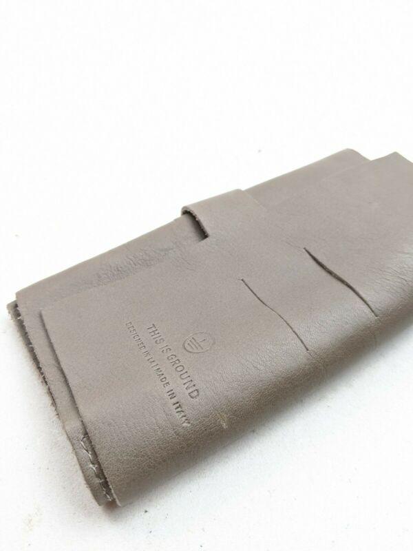 This Is Ground Gray Leather Wallet Accessories Holder Small