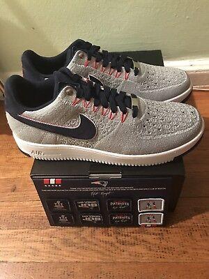 Nike Air Force 1 Ultra Flyknit Low Size 14 Robert Kraft Patriots New England Rkk