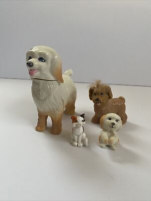 Barbie Doll's Pet Dog Lot of Dogs Puppies And One Cat Magnetic Dog/puppy