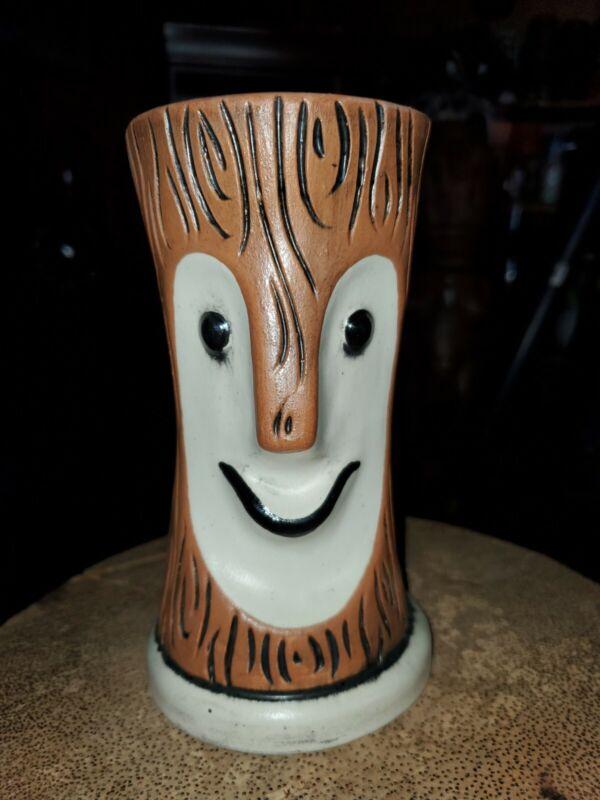 Tiki Bob Tiki Mug Brown Wood