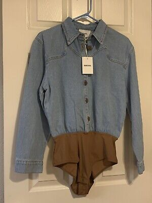 New Nanushka Denim Top Size M
