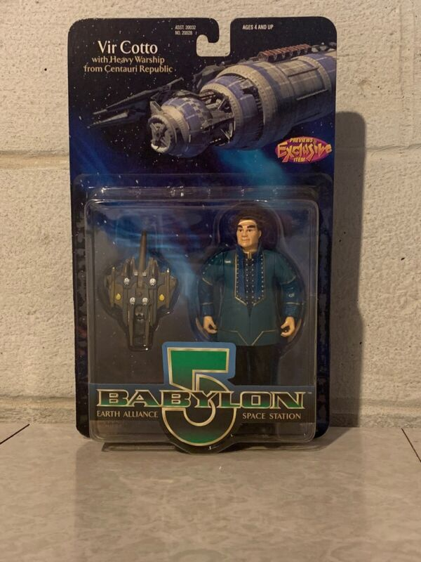 """Babylon 5 Vir Cotto With Heavy Warship Figure 6"""" Exclusive 1997 *New"""