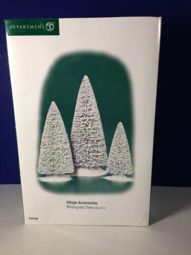 Dept 56 Heritage Village WINTERGREEN TREES Set of 3 800488 Brand New!