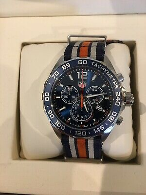 TAG Heuer Formula 1 Chronograph Blue Dial Nylon Band Men's Watch CAZ1014.FC8196