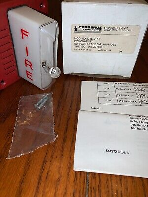Pyrotronics Cerberus Strobe Fire Alarm Mtl-s17-s Surface 8 Tone 500-695276