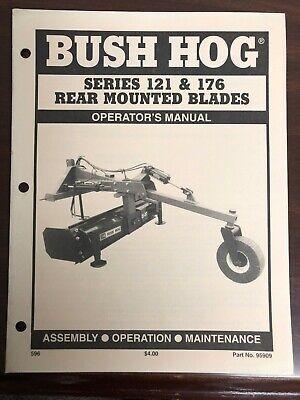 Bush Hog Manual Series 121 176 Rear Mount Blades 95909