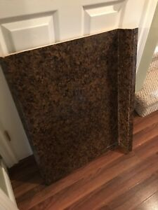 Brown coloured counter top