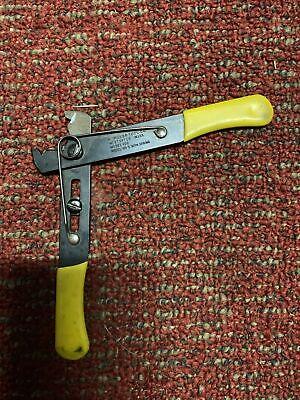 Vintage K. Miller Tool Co. Model 100 Wire Cutter 5 Industrial Hand Crimper Good