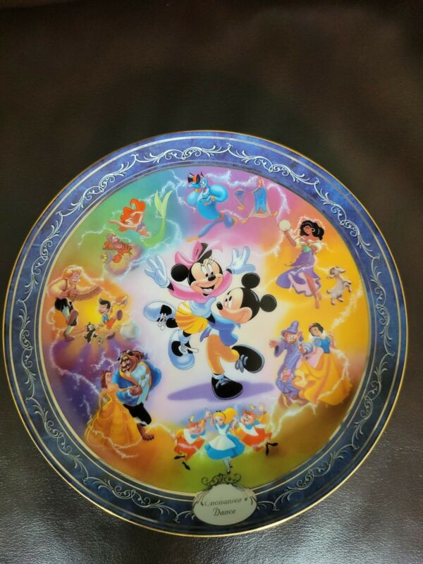 """Bradford Exchange """"Enchanted Dance"""" Collector Plate #2   Magical Disney Moments"""