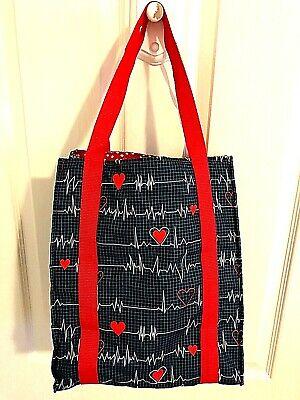 Nurse Tote Bags (Cardiac Nurse Heartbeat EKG Tote Bag Cardiology Reversible)