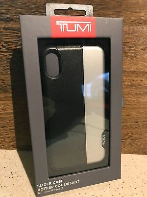 Tumi Vertical Slider Case 2 Piece for  Apple iPhone X 10 - Black / Silver