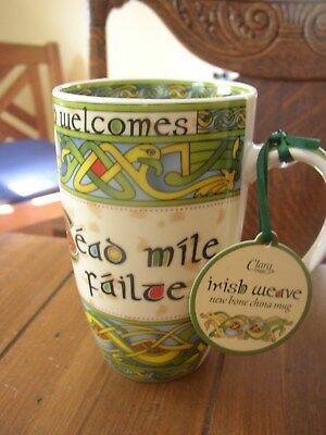 Clara Irish Themed Coffee or Tea Mugs, Slainte, Shamrock, Claddagh, Harp, etc.](Irish Theme)