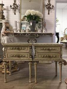 Pair of French Style Vintage Bedsides Bedside Tables Richmond Hawkesbury Area Preview