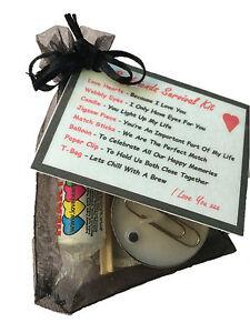BOYFRIENDS SURVIVAL KIT - Valentines - Birthday - Novelty Gift
