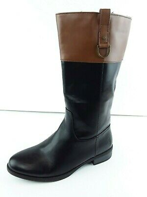 POLO RALPH LAUREN Girl's Mesa Black/Tan Classic Fashion Riding Boots US 4.5 MB