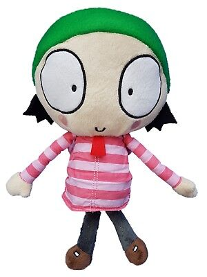 "Sarah and Duck Soft Toy - 10"" 25cm Sarah Plush by Posh Paws"