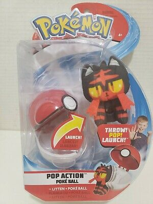 Pokemon Pop Action Poke Ball - Litten and Poké Ball (New)