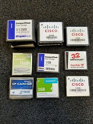 *VB Best Offer* 27 x various CF-Cards,SanDisk, Cisco, Compact Flash, Industrial