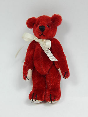 "World of Miniature Bears 2.5"" Plush Bear Red #320 Collectible Miniature Bear"