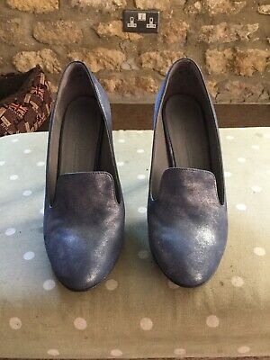 Kennel & Schmenger Ladies Blue High Heel All Leather Court Shoes Size UK5.5